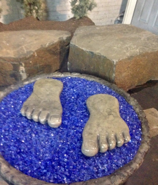 Concrete Works Statuary Inc Bigfoot Set Stepping Stones
