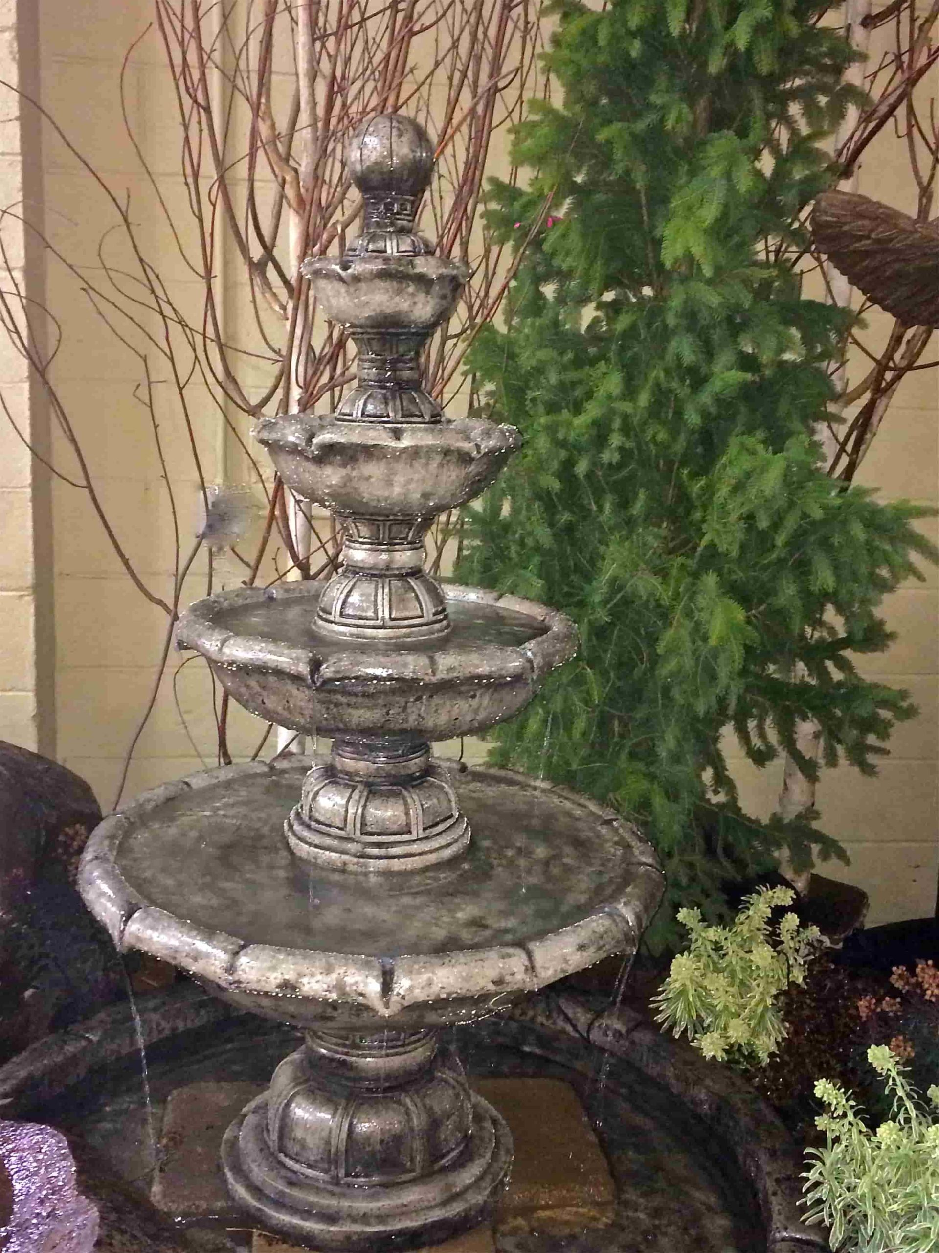 Concrete Works Statuary Inc 4 Tier Mediterranean Fountain