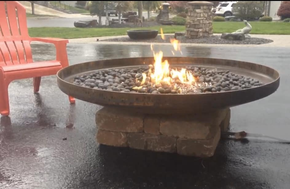 "Concrete Works Statuary Inc 54"" Steel Fire Pit"