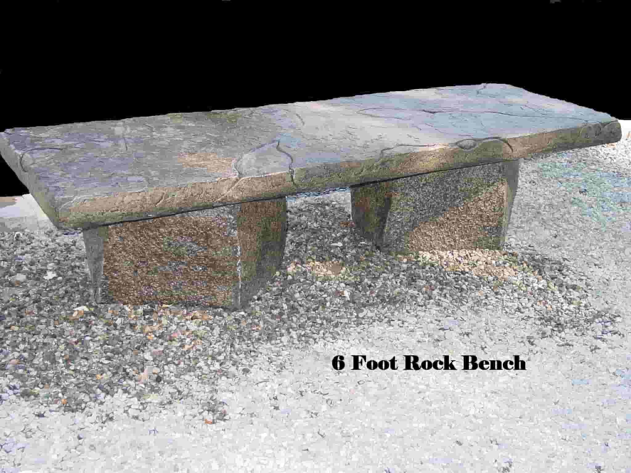 Concrete Works Statuary Inc Rock Bench