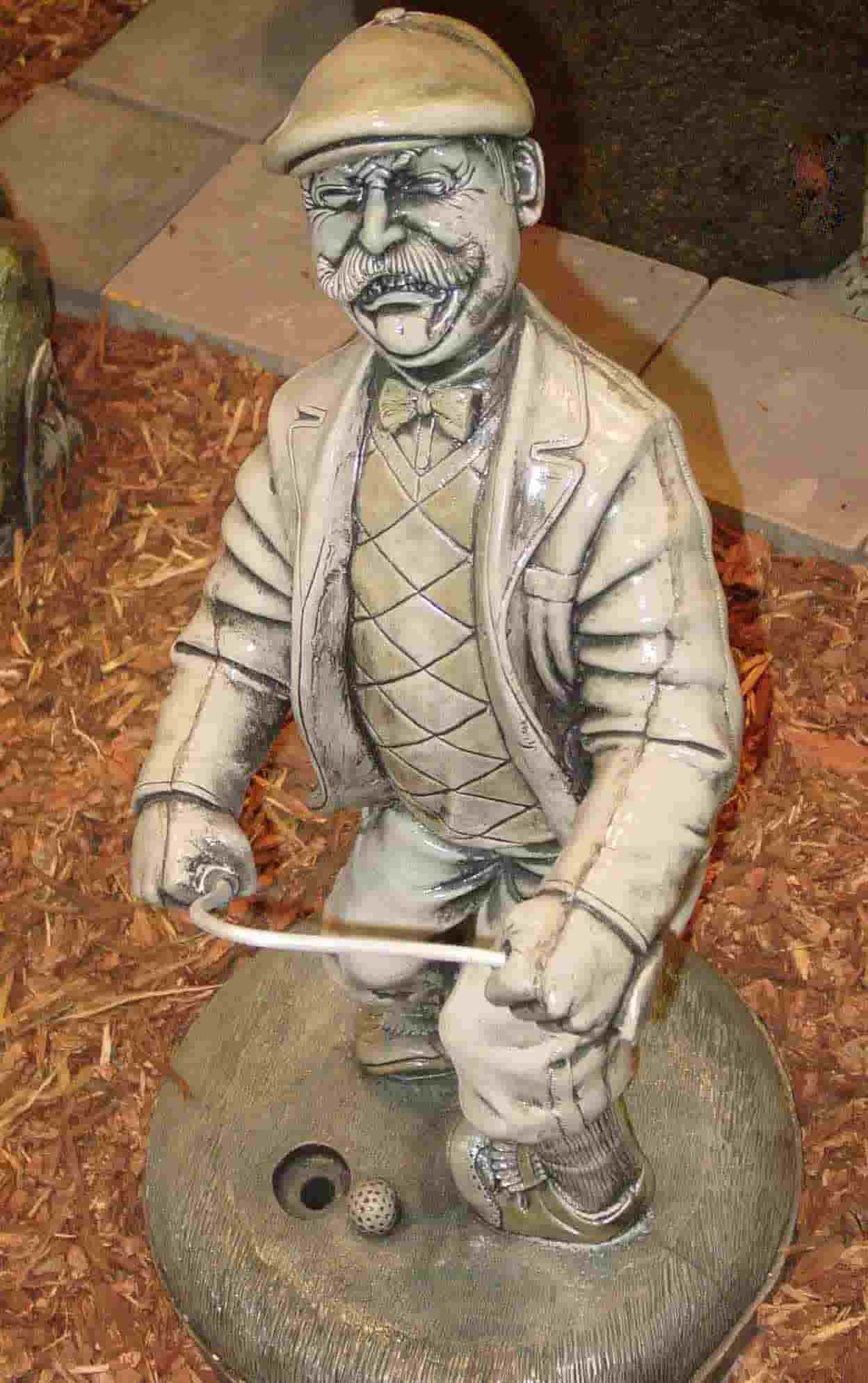 Concrete Works Statuary Inc Angry Golfer