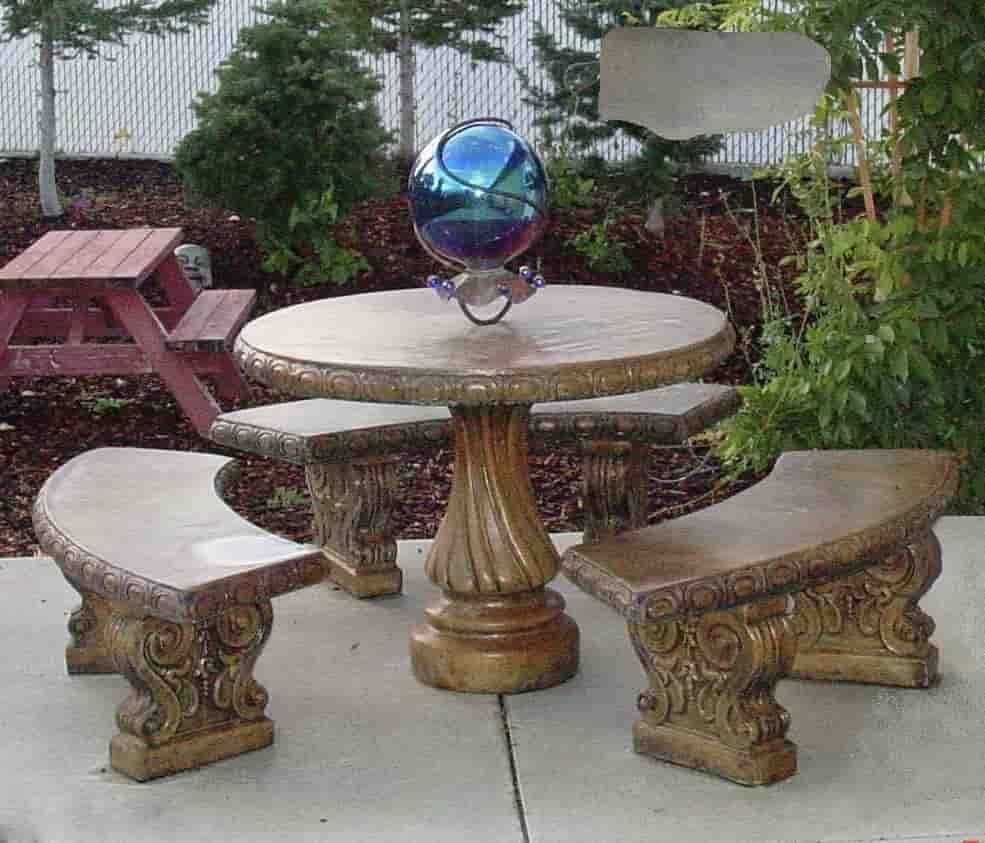Concrete Works Statuary Inc Classic Table Set