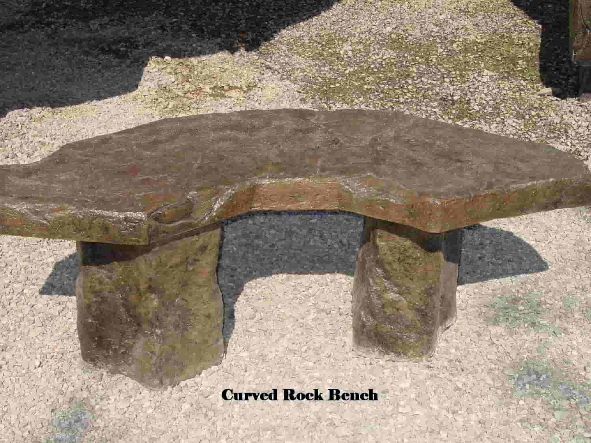 Concrete Works Statuary Inc Curbed Rock Bench