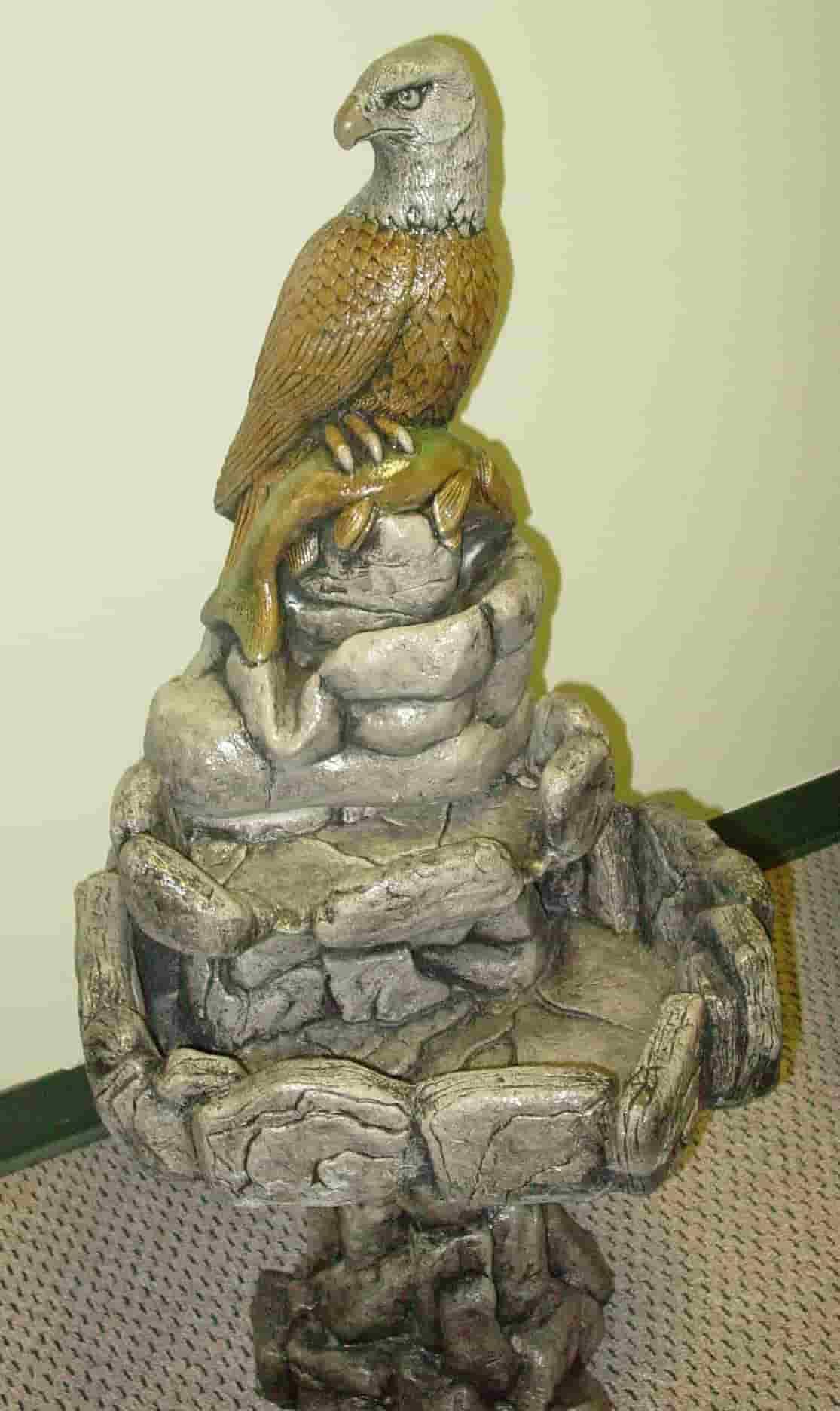 Concrete Works Statuary Inc Eagle Fountain