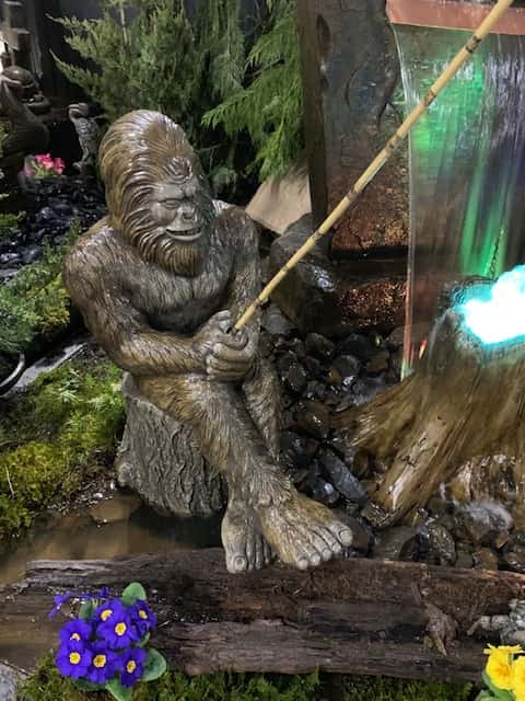 Concrete Works Statuary Inc Fishing Bigfoot