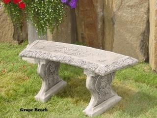 Concrete Works Statuary Inc Grape Bench