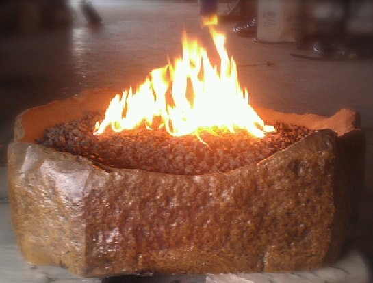 Concrete Works Statuary Inc Koi Fire Pit
