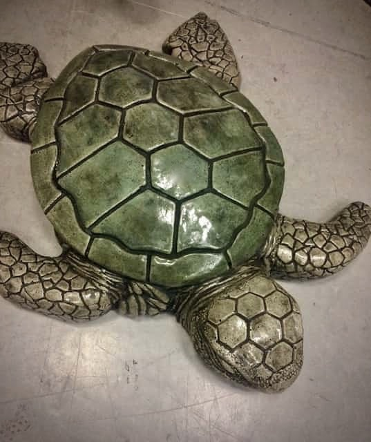 Concrete Works Statuary Inc Large Sea Turtle