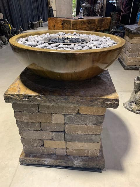 Concrete Works Statuary Inc Large Wok Fire Pit