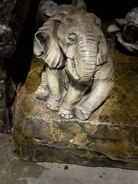 Concrete Works Statuary Inc Medium Sitting Elephant