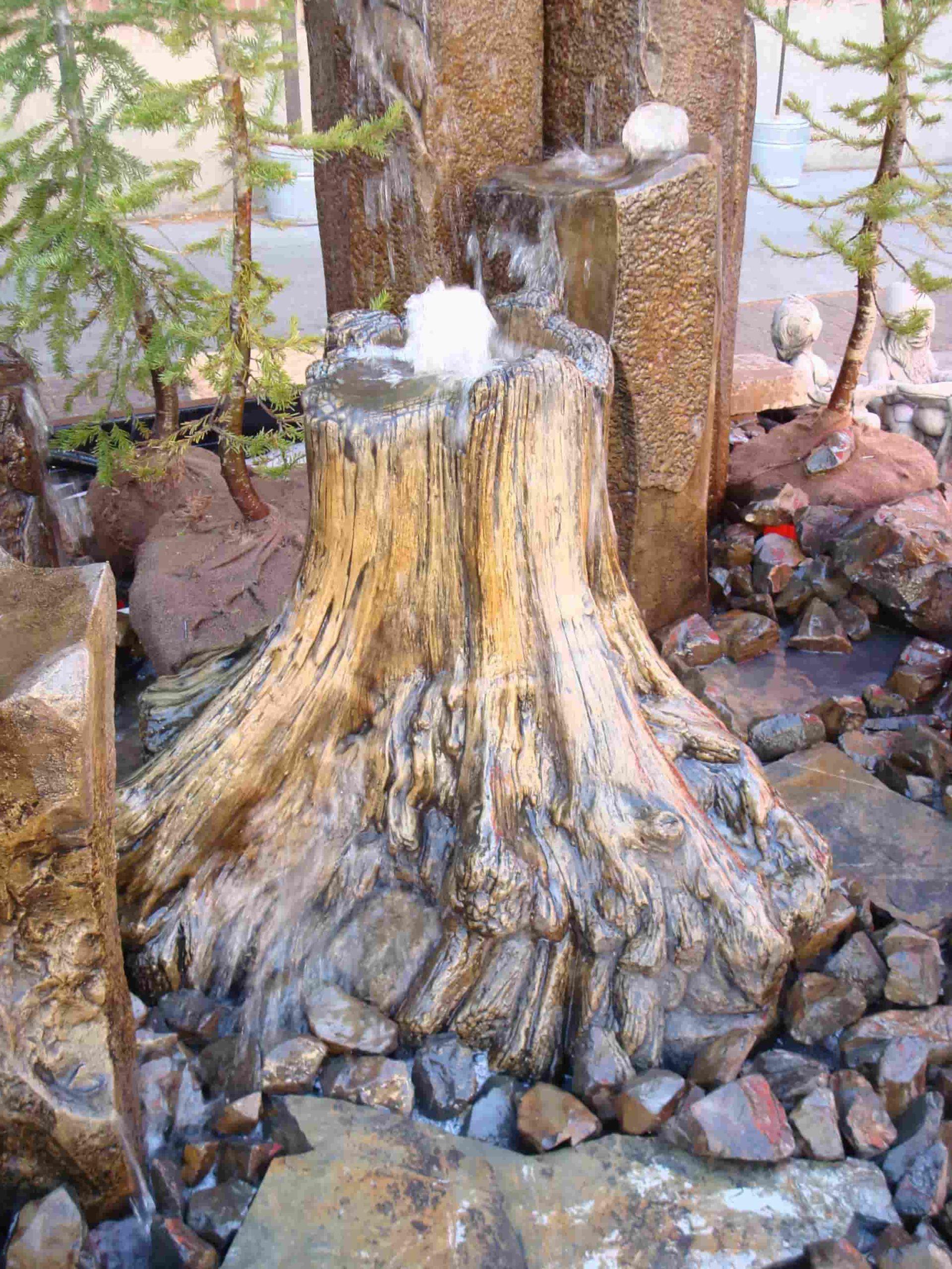 Concrete Works Statuary Inc Medium Stump Fountain