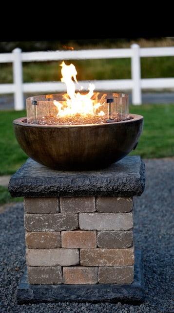 Concrete Works Statuary Inc Medium Wok Fire Bowl