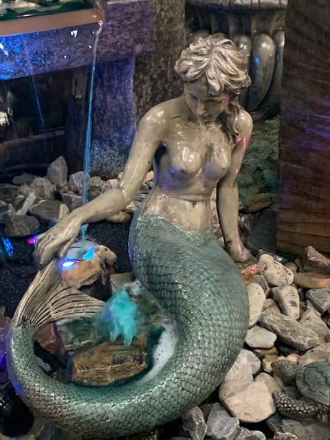 Concrete Works Statuary Mermaid Statue or Bubbler