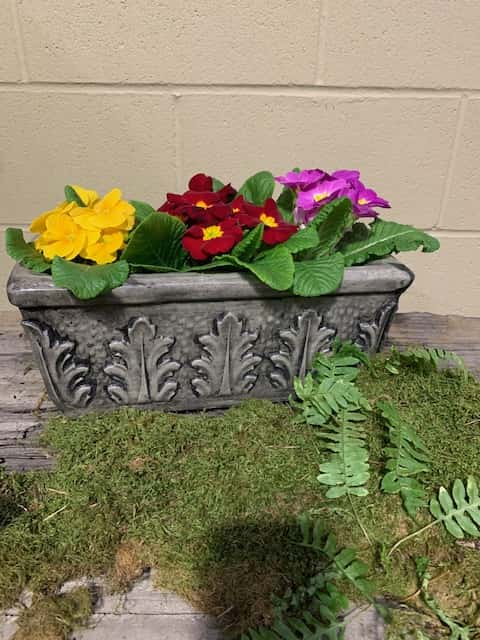 Concrete Works Statuary Inc Small Rectangle Planter