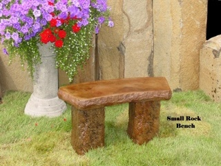 Concrete Works Statuary Inc Small Rock Bench
