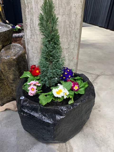Concrete Works Statuary Inc Small Rock Planter