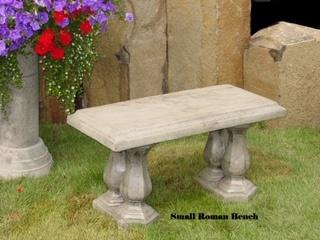 Concrete Works Statuary Inc Small Roman Bench
