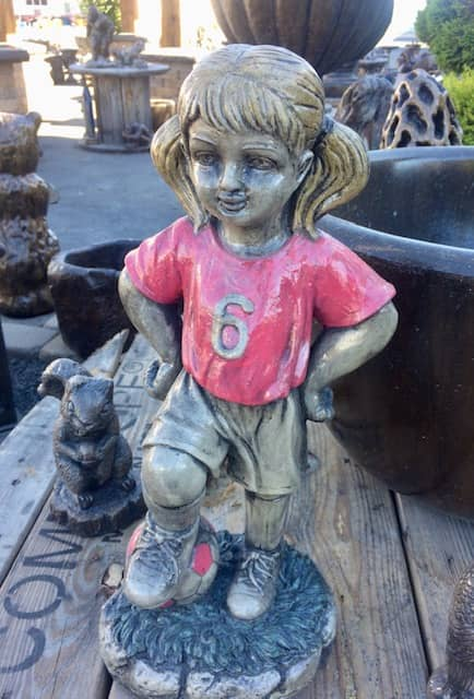 Concrete Works Statuary Inc Soccer Girl