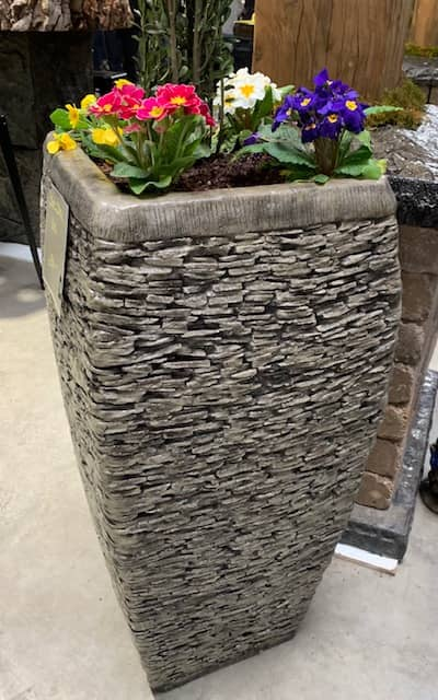 Concrete Works Statuary Inc Stack Stone Planter