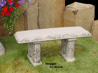 Concrete Works Statuary Inc Straight Ivy Bench