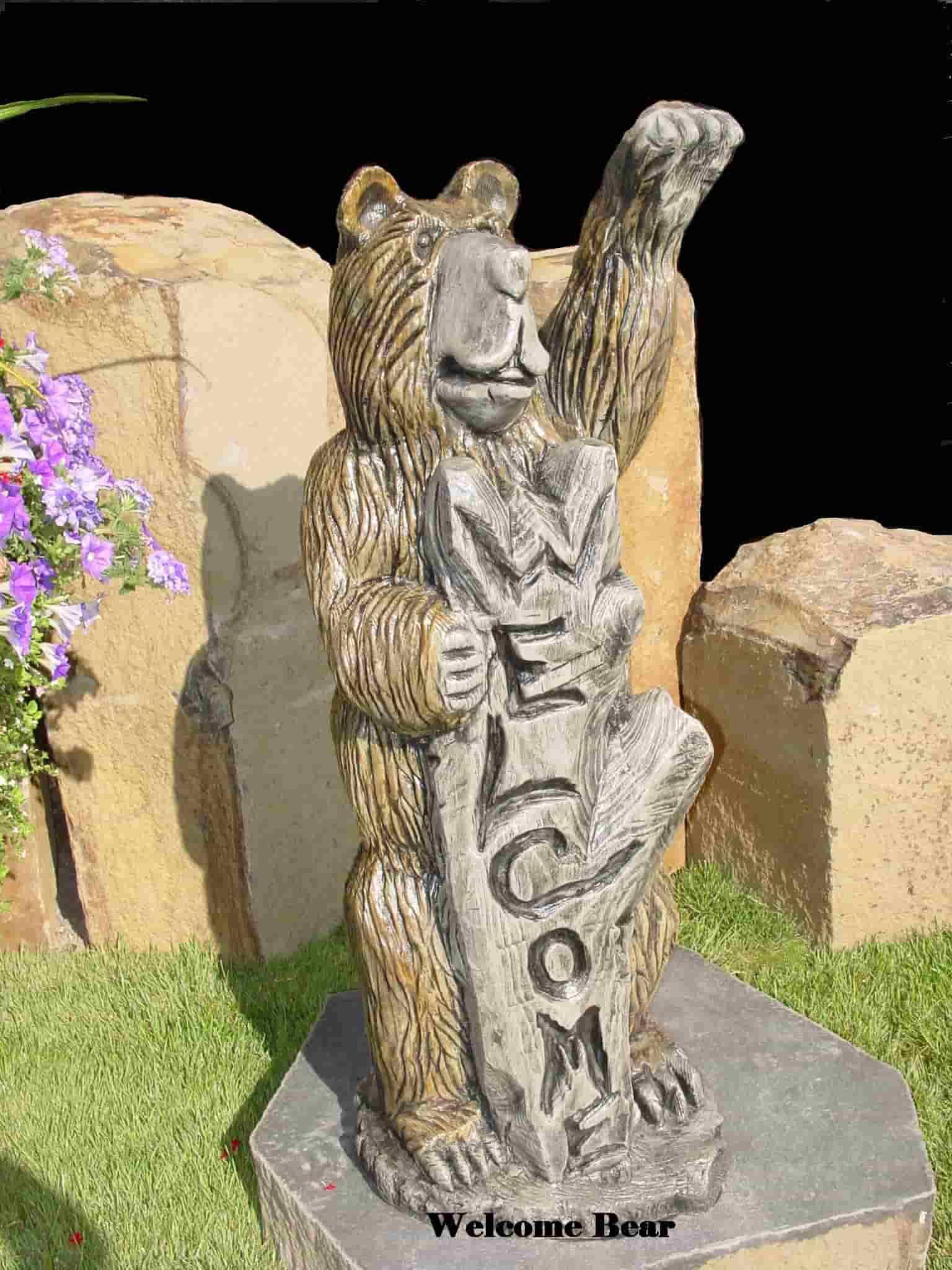 Concrete Works Statuary Inc Welcome Bear